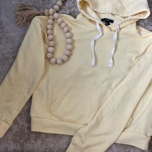 Yellow cropped hoodie
